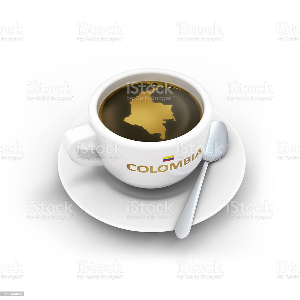 Colombia coffee cup royalty-free stock photo