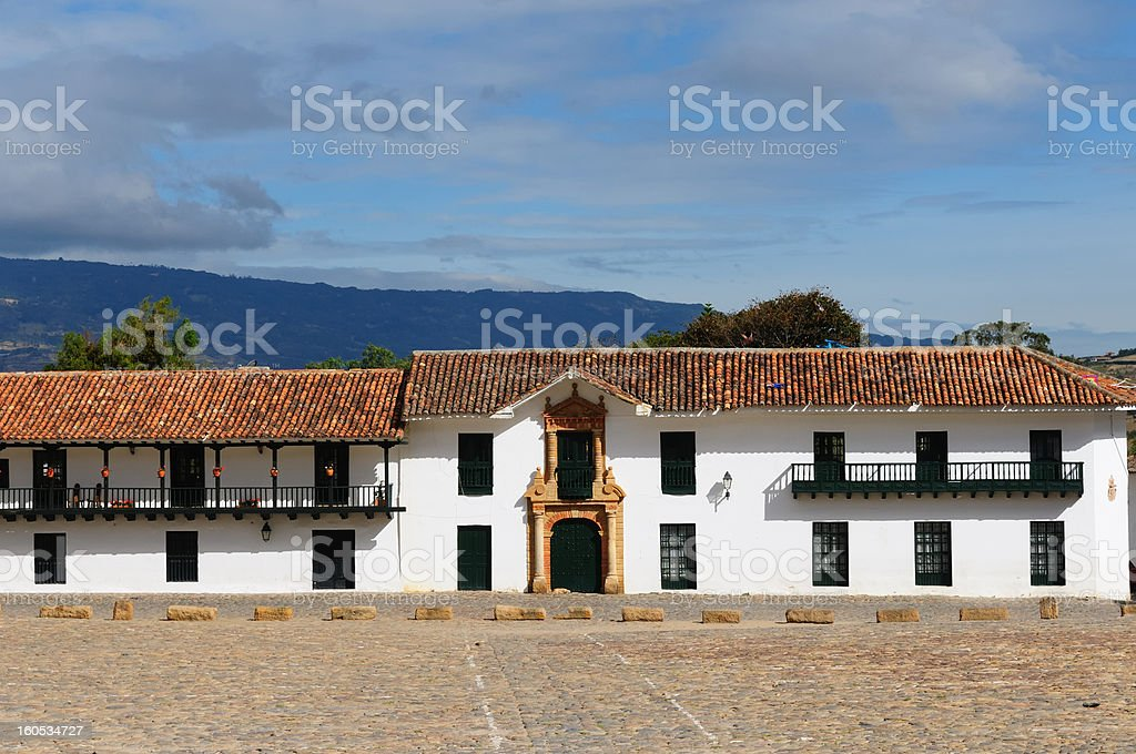 Colombia, Colonial architecture of Villa de Leyva royalty-free stock photo