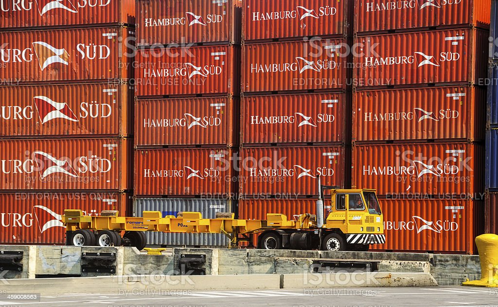 Colombia Container Termianl royalty-free stock photo