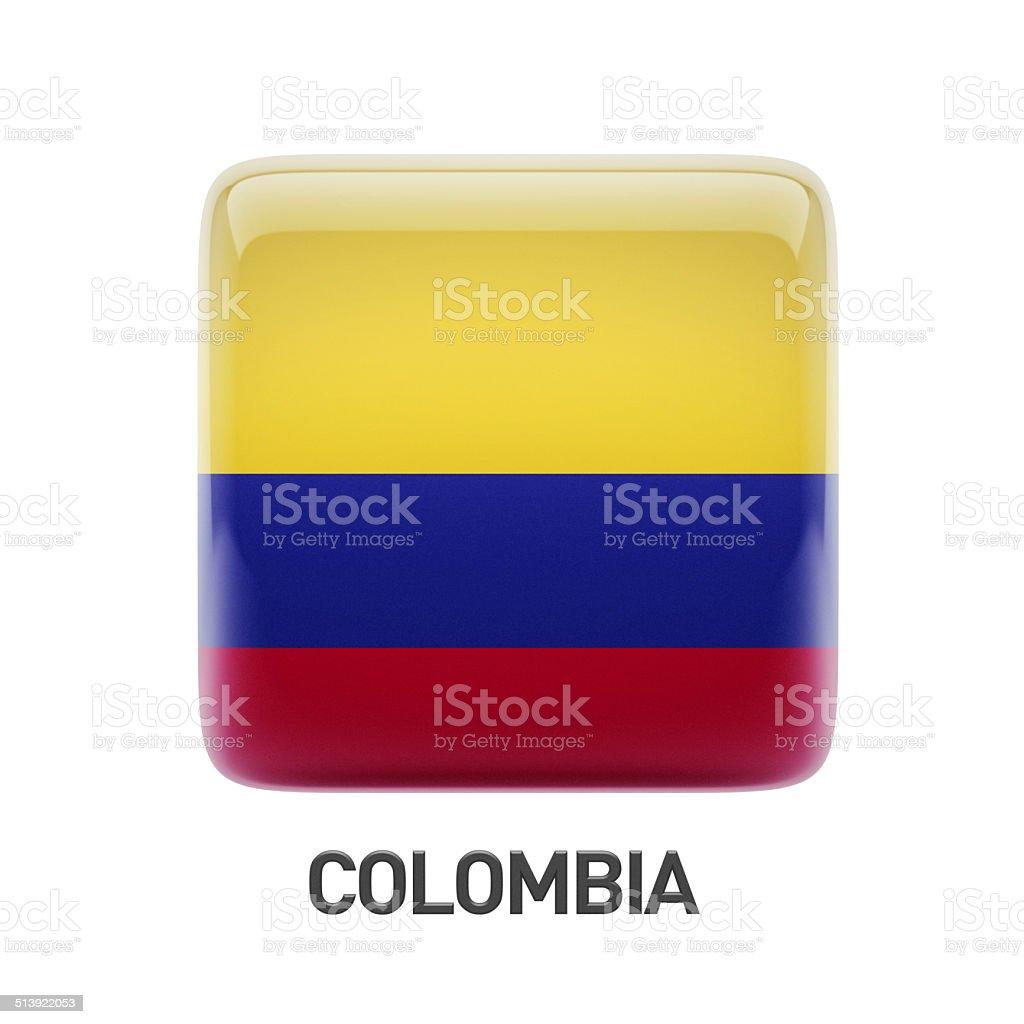 Colombia Flag Icon stock photo