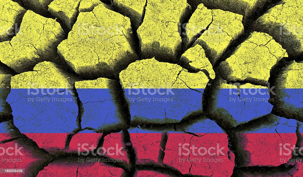Colombia flag. royalty-free stock photo