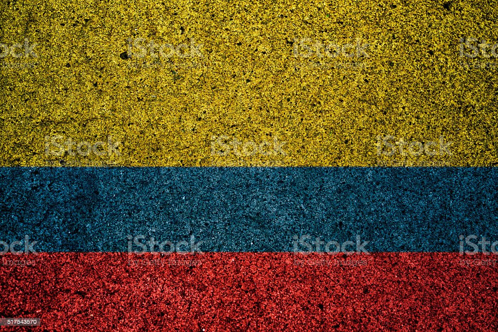 colombia flag with a vintage effect in the background stock photo