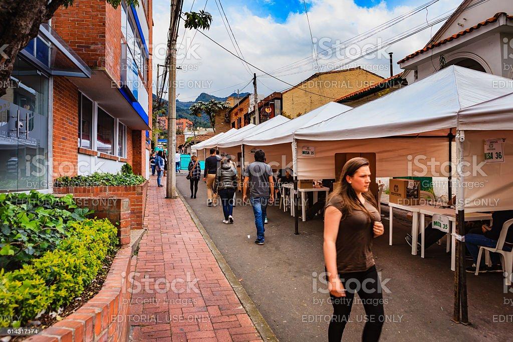 Colombia - Historic Plebiscite on Peace Process with FARC stock photo