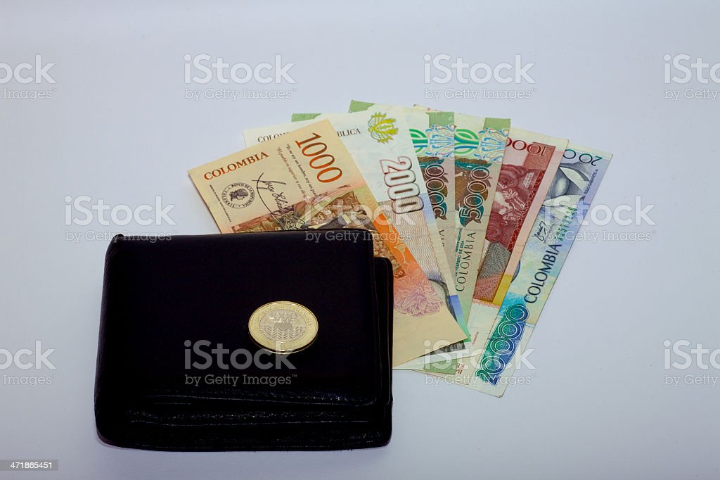 notes of denominations of 1000 5000000 and 20,000 Colombian Pesos,...