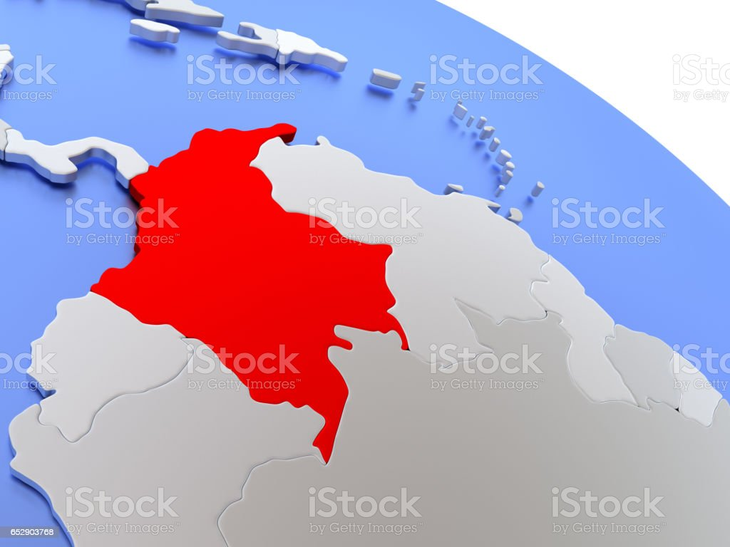 Colombia on world map stock photo 652903768 istock colombia on world map royalty free stock photo gumiabroncs Gallery