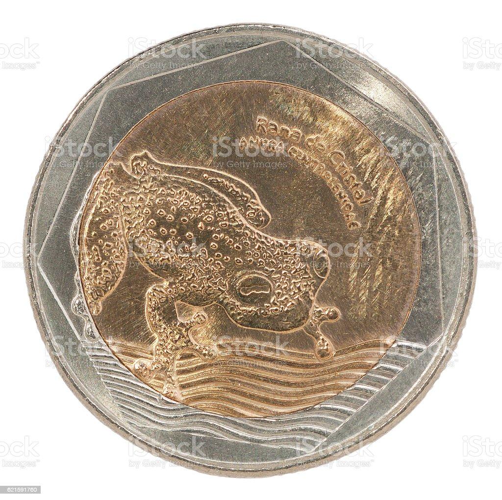 Colombia pesos coin stock photo