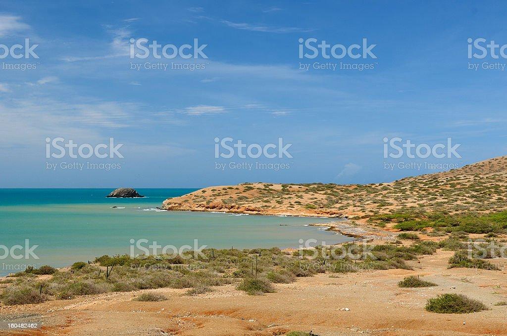 Colombia, Pilon de azucar beach in La Guajira stock photo