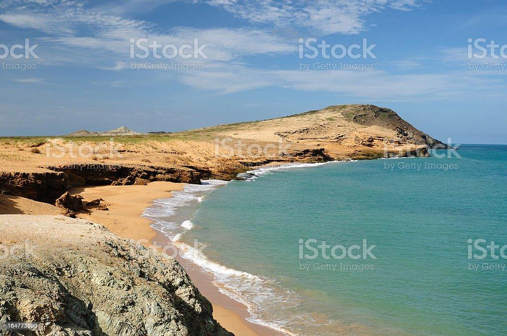 Colombia, Pilon de azucar beach in La Guajira royalty-free stock photo
