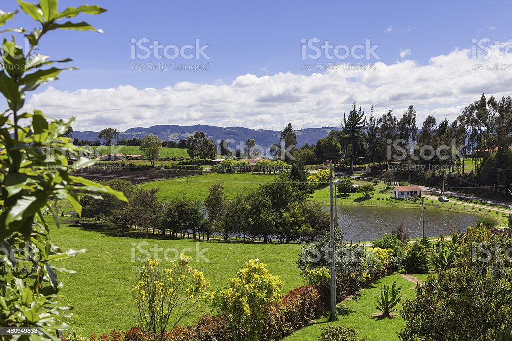 Colombia - Rural Andean scene from Subachoque royalty-free stock photo