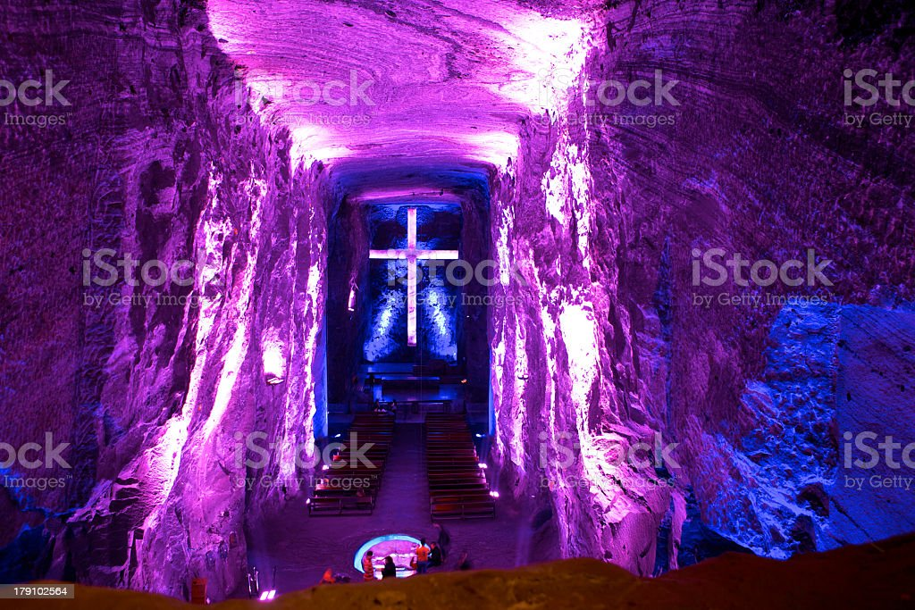 Colombia, South America: Catedral de Sal, Halite Mine, Zipaquirá stock photo