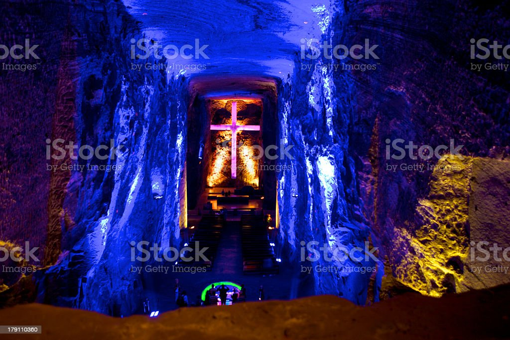 Colombia, South America: New Catedral de Sal, Halite Mine, Zipaquirá stock photo