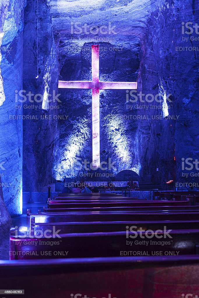 Colombia, South America -New Catedral de Sal, Halite Mine, Zipaquirá royalty-free stock photo