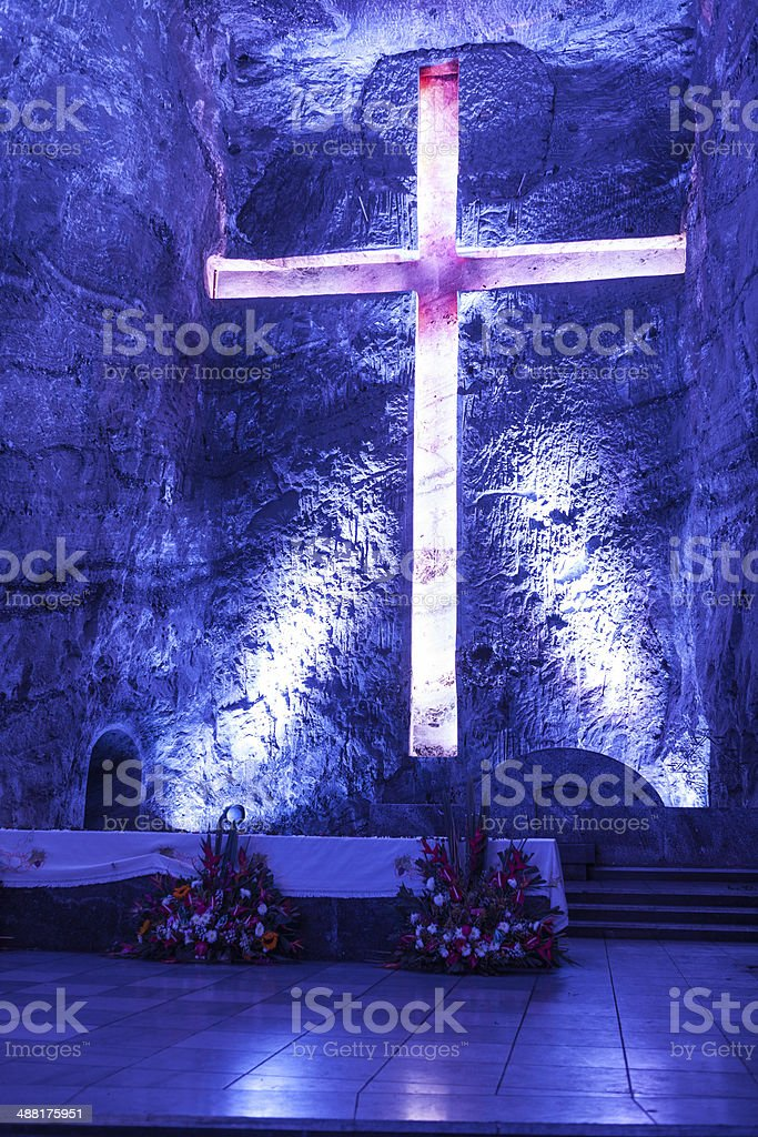 Colombia, South America: New Catedral de Sal, Halite Mine, Zipaquirá royalty-free stock photo