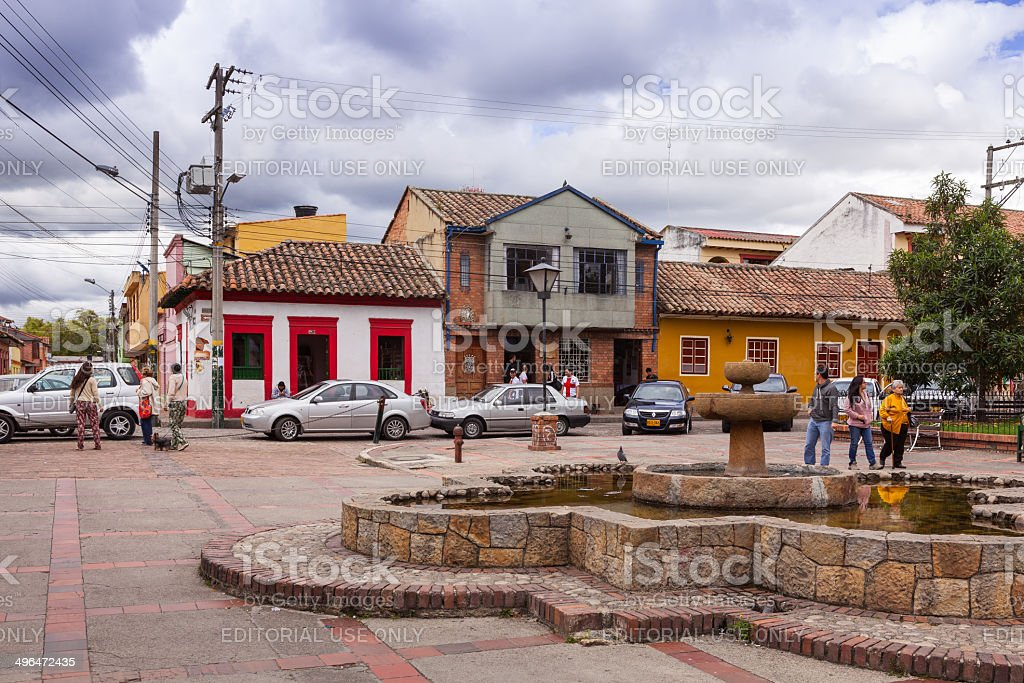 Colombia, South America - Town square in Tabio royalty-free stock photo