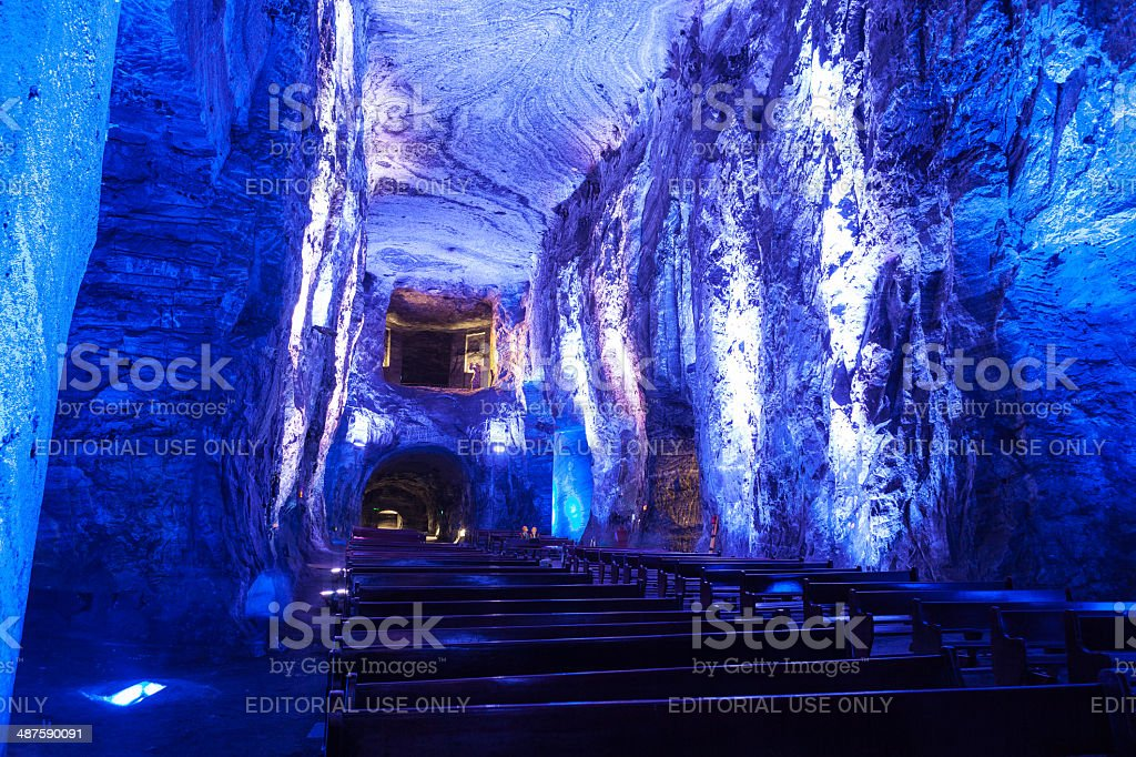 Colombia -The Catedral de Sal, Halite Mine, Zipaquirá stock photo