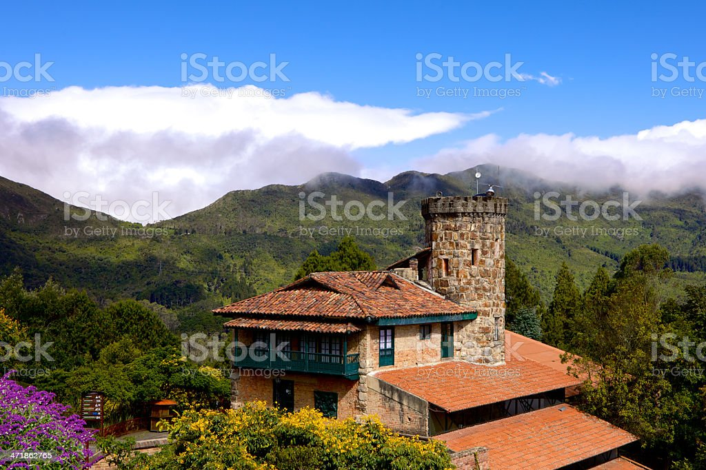 Colombia -View from Andean peak, Monserrate, Bogotá royalty-free stock photo