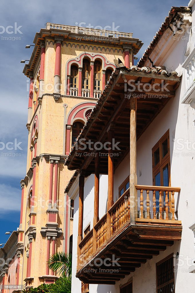 Colombia, View on the old Cartagena royalty-free stock photo