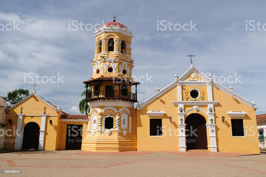 Colombia, View on the old Mompos royalty-free stock photo