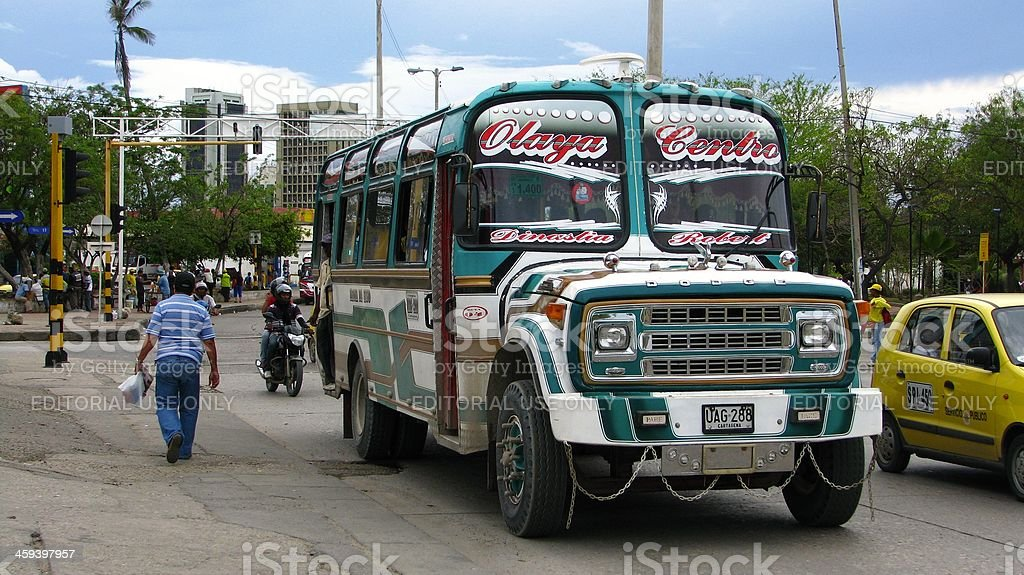 Colombian bus service stock photo