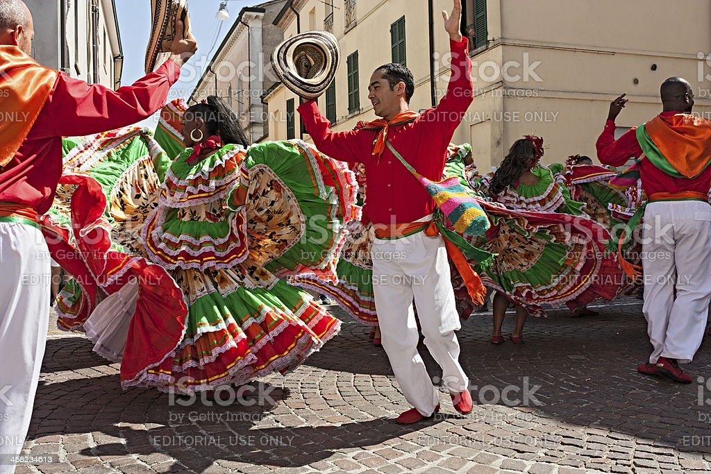 Colombian dancers stock photo