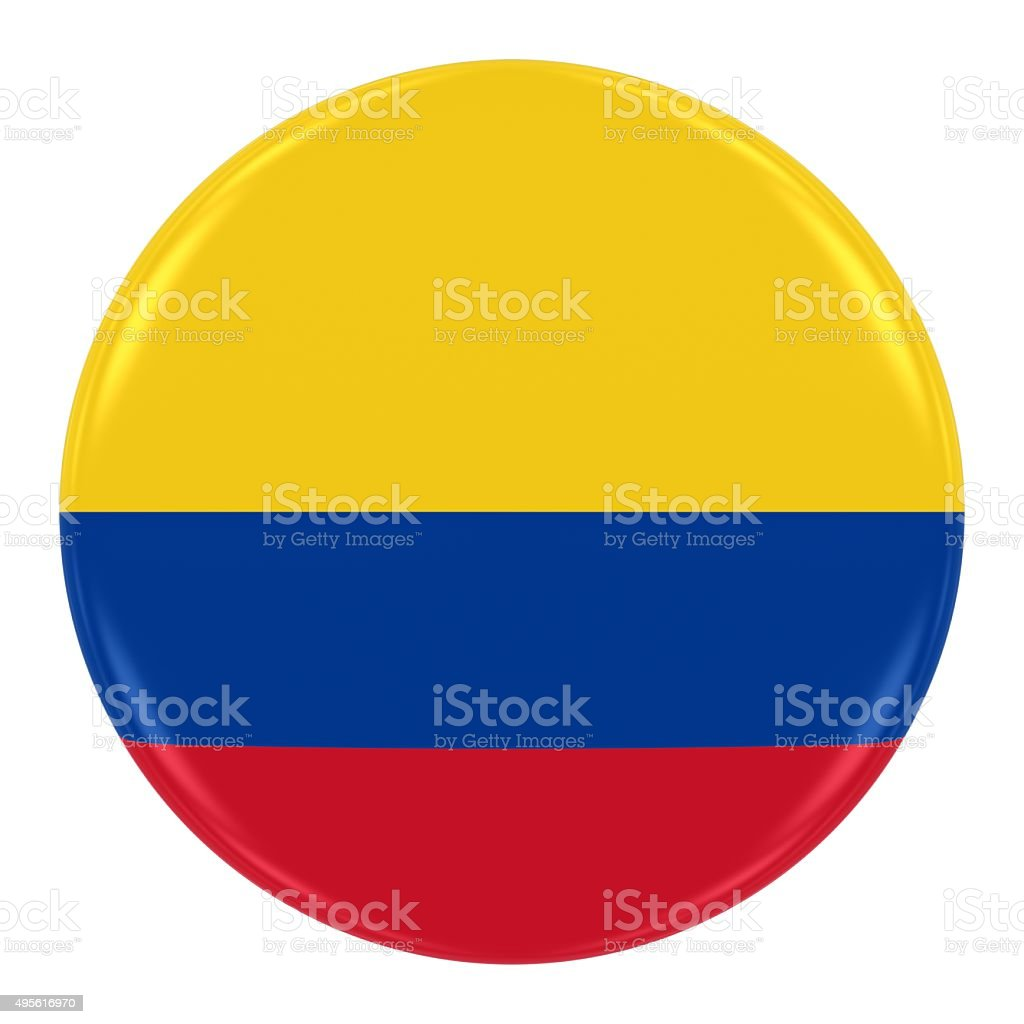 Colombian Flag Badge stock photo