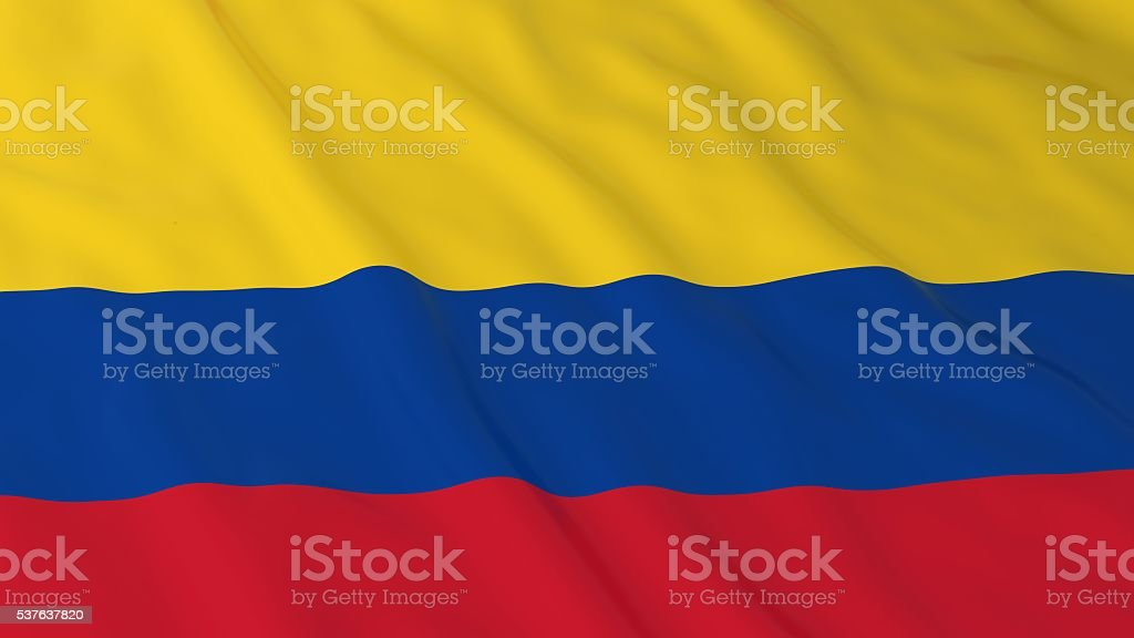 Colombian Flag HD Background - Flag of Colombia 3D Illustration stock photo