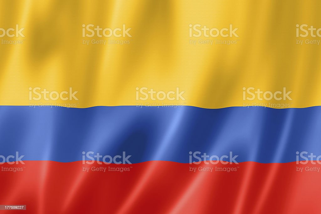 Colombian flag royalty-free stock photo