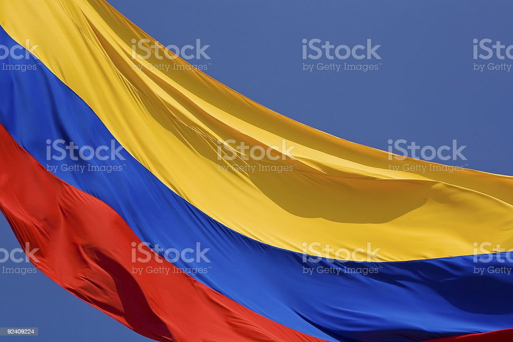 Colombian Flag stock photo