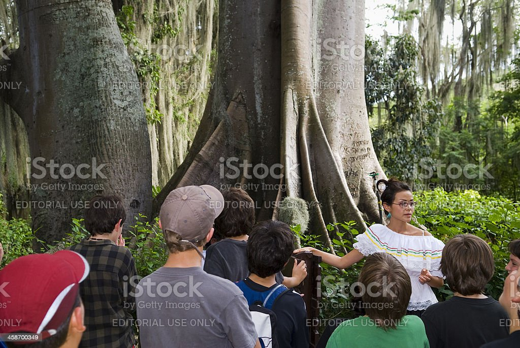 Colombian guide in San Gil's Parque Natural El Gallinera royalty-free stock photo