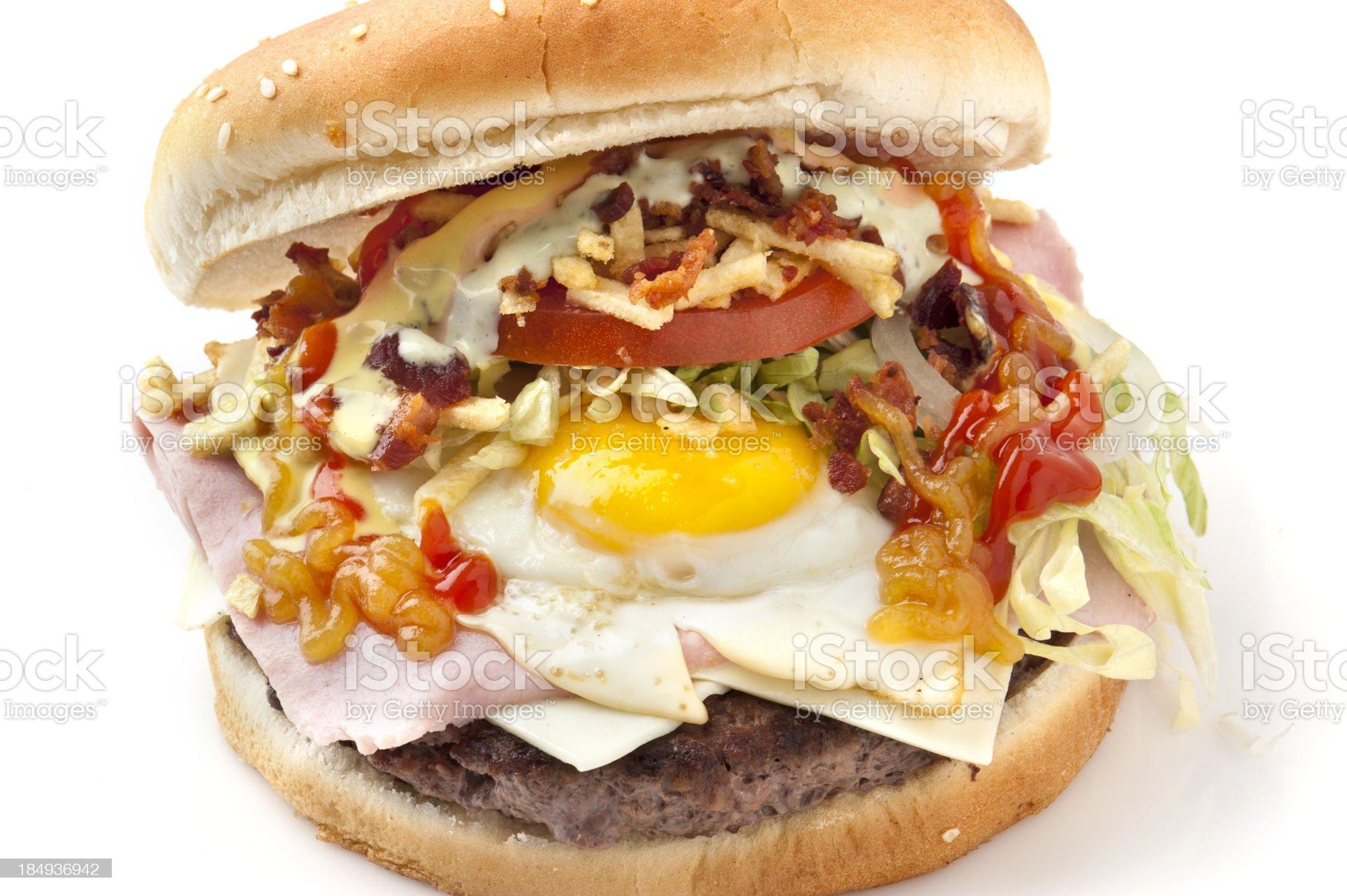 Colombian Hamburger royalty-free stock photo