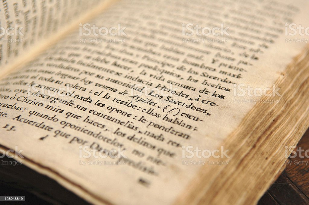 Colombian old book stock photo