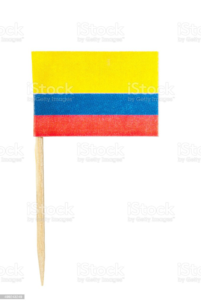 Colombian paper flag stock photo