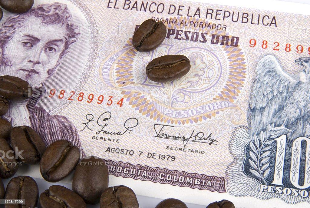 Colombian Pesos royalty-free stock photo