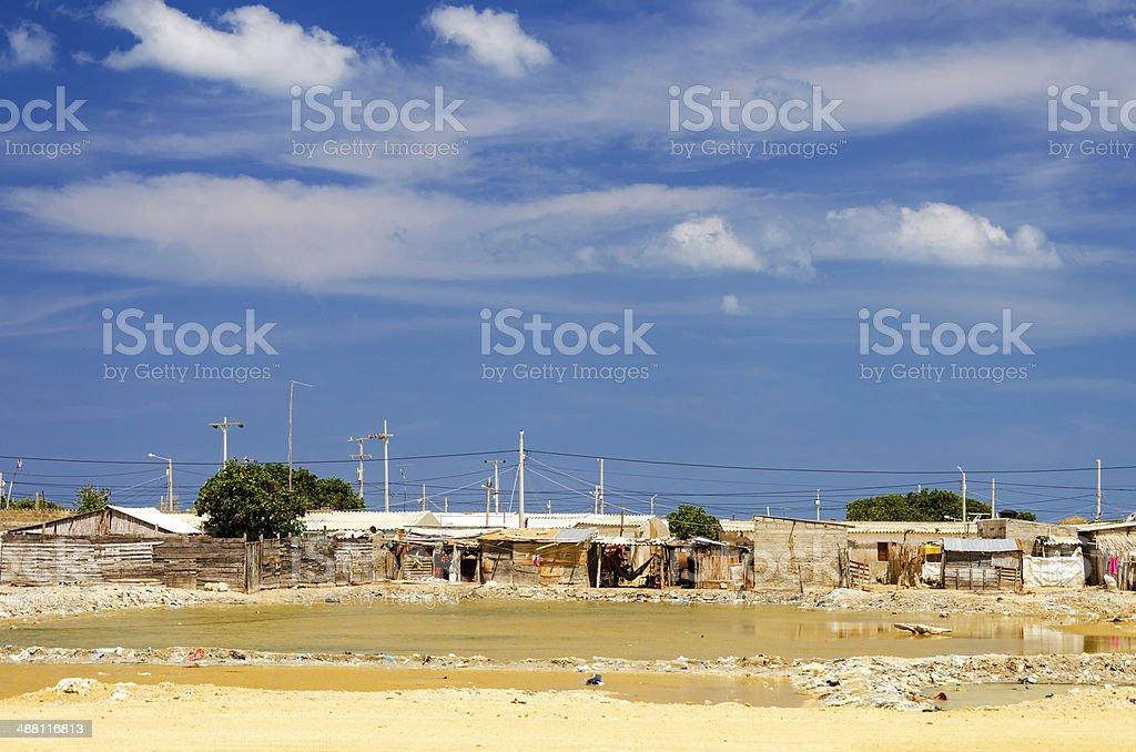 Colombian Slum stock photo