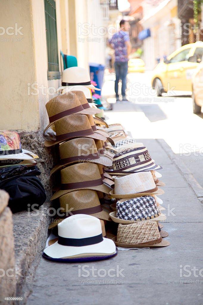 Colombian sombreros royalty-free stock photo