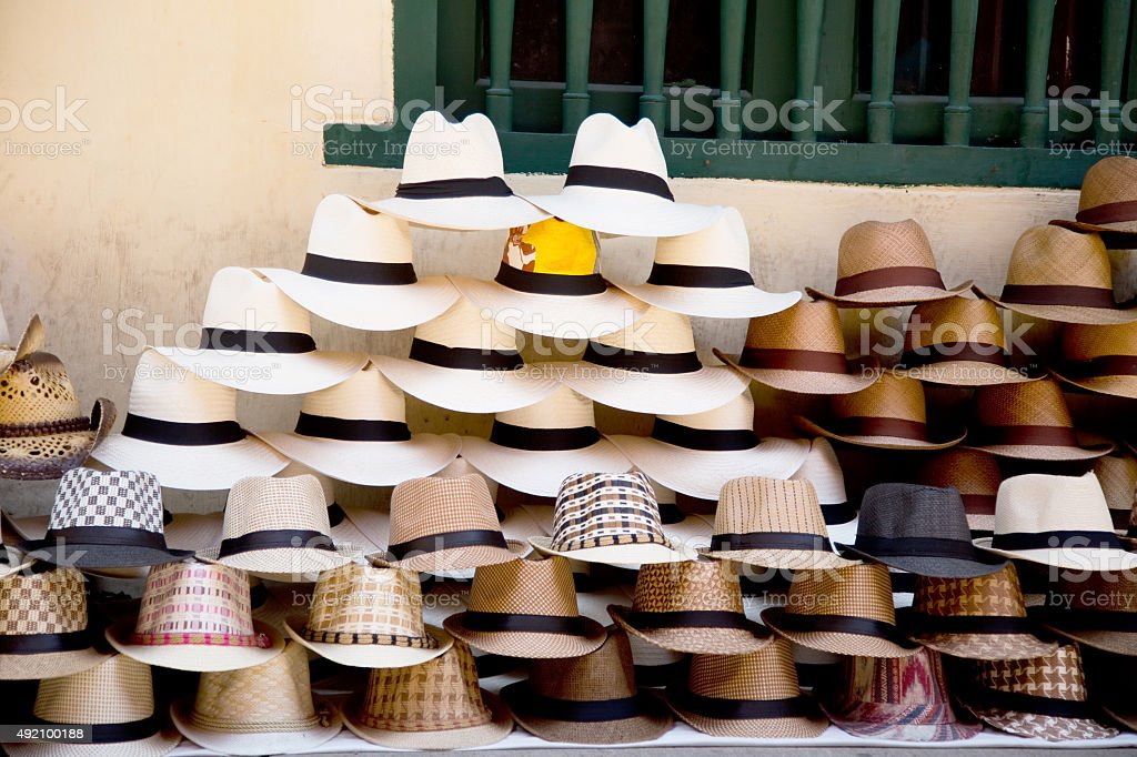 colombian sombrero's stock photo