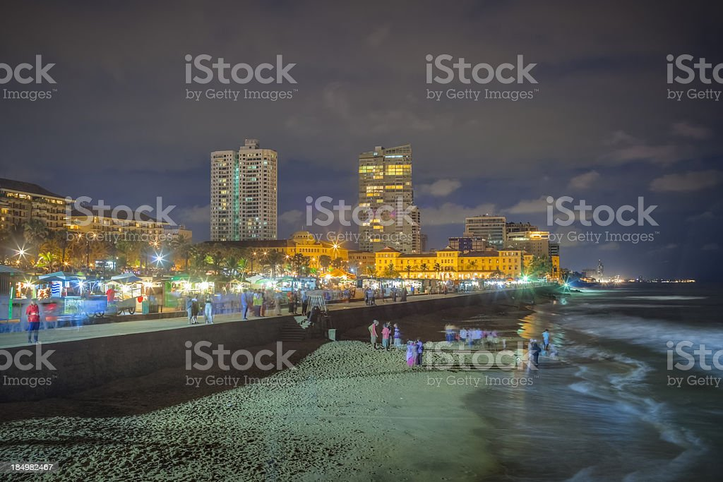 Colombo Beach Nightlife stock photo