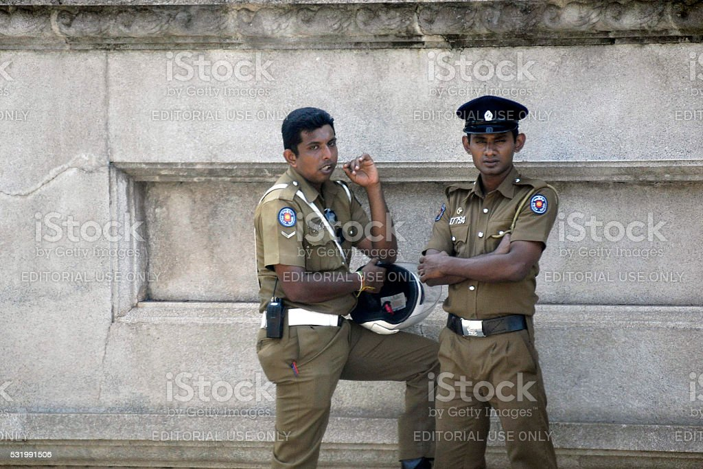 Colombo Sri Lanka police stock photo