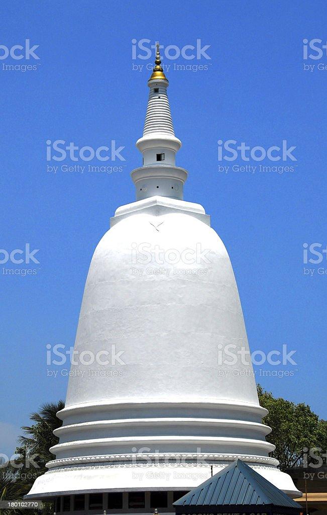 Colombo, Sri-Lanka: Sri Sambuddhaloka Vihara Buddhist Temple, stupa stock photo