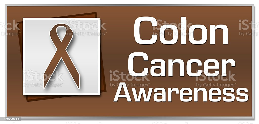 Colon Cancer Awareness Brown Ribbon Square stock photo