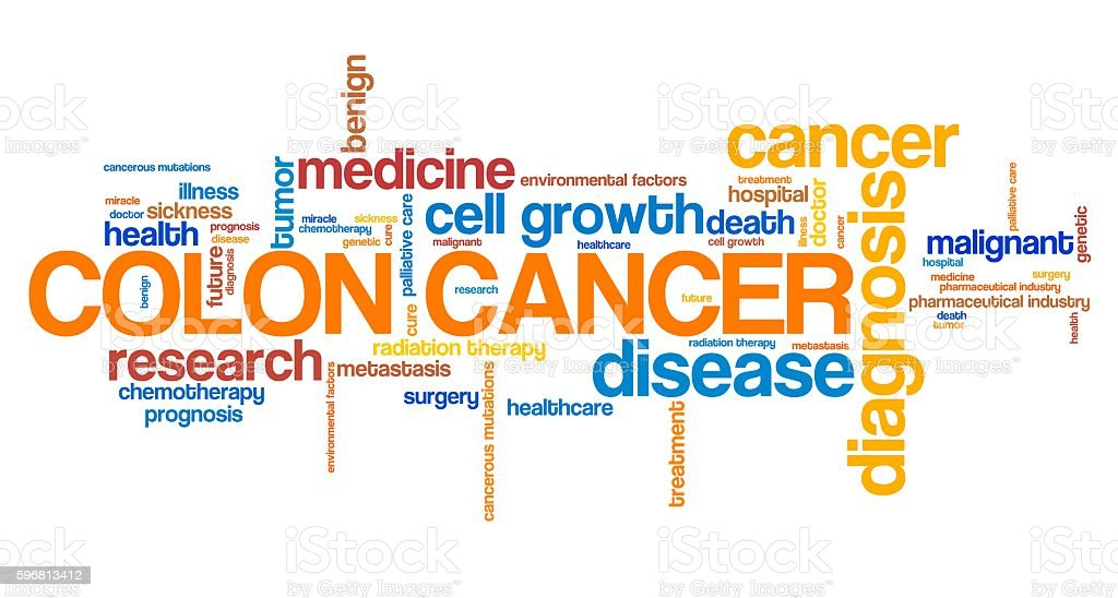 Colon cancer stock photo