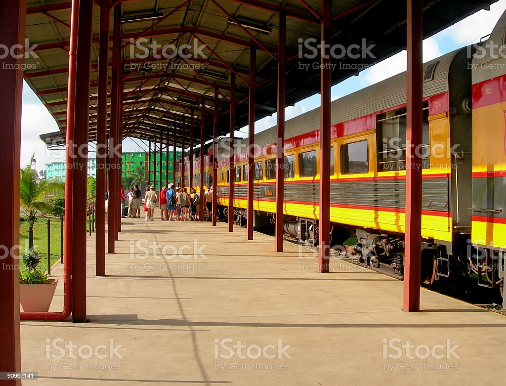 Colon Commuter Train royalty-free stock photo