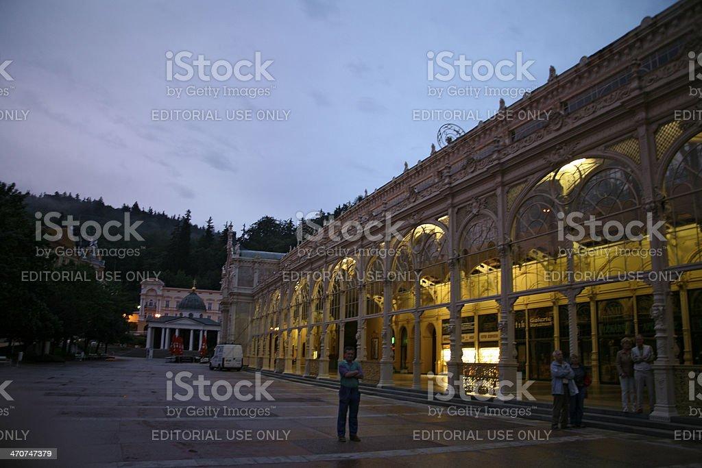 Colonades in Marianske Lazne, Czech Republic royalty-free stock photo