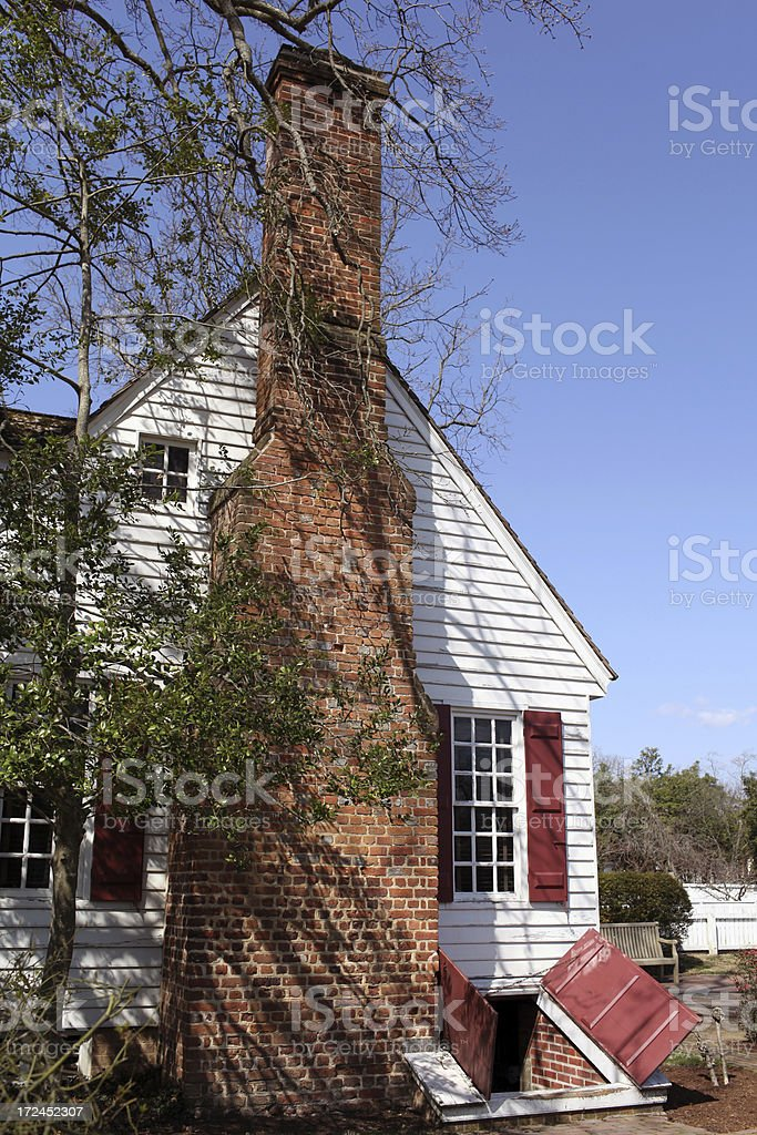 Colonail Home with Cellar royalty-free stock photo