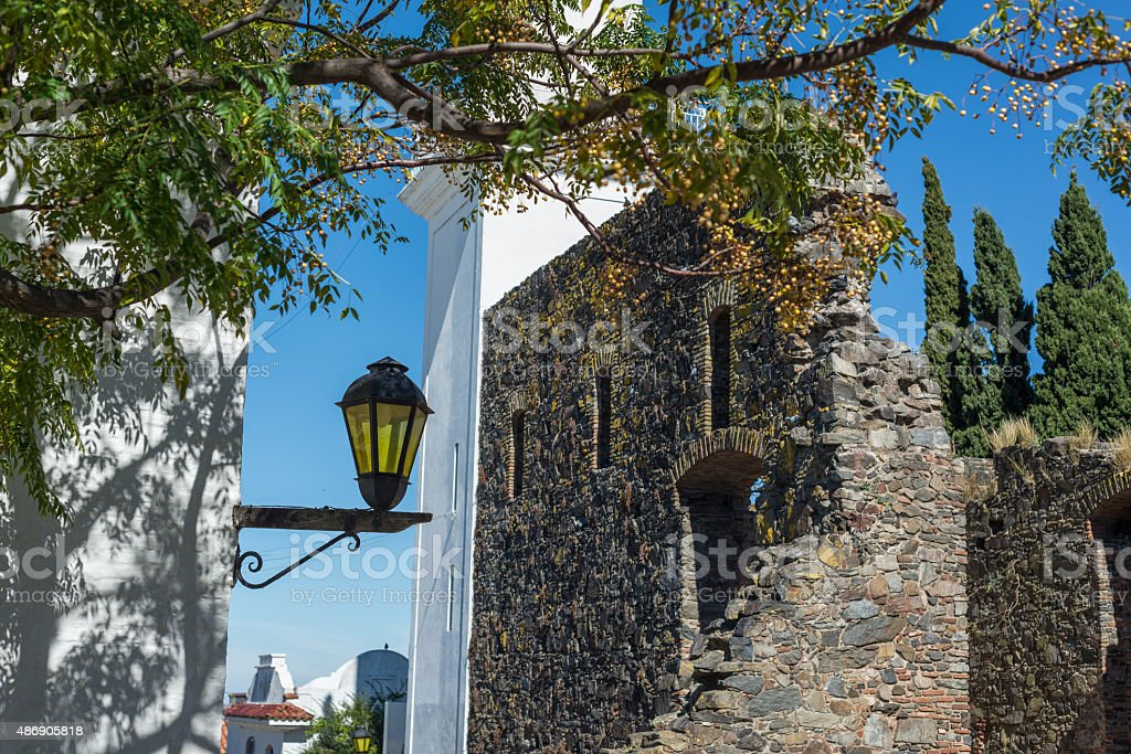 Colonia de Sacramento Town, Uruguay, Traveling South America. stock photo