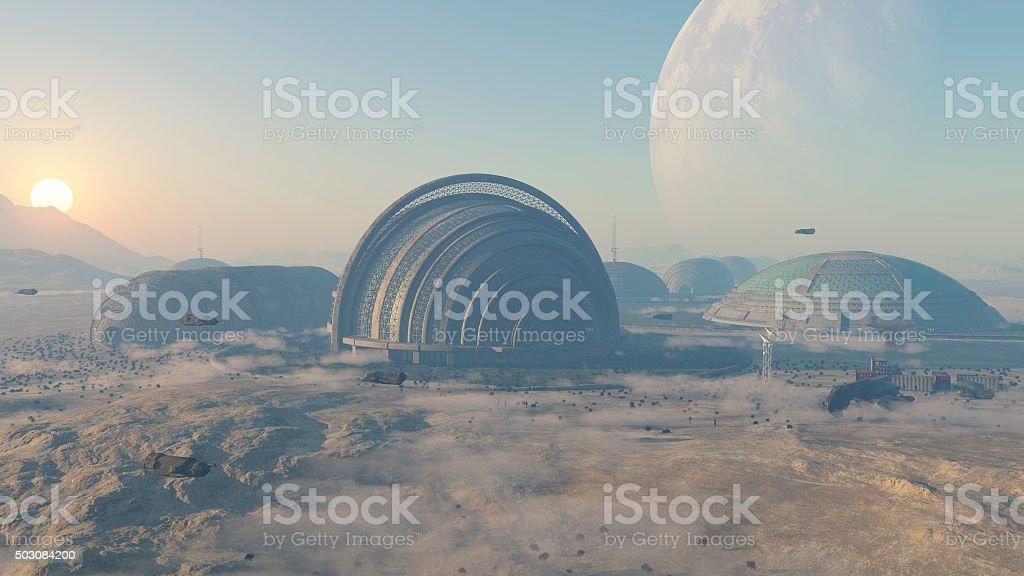 colonia espacial stock photo