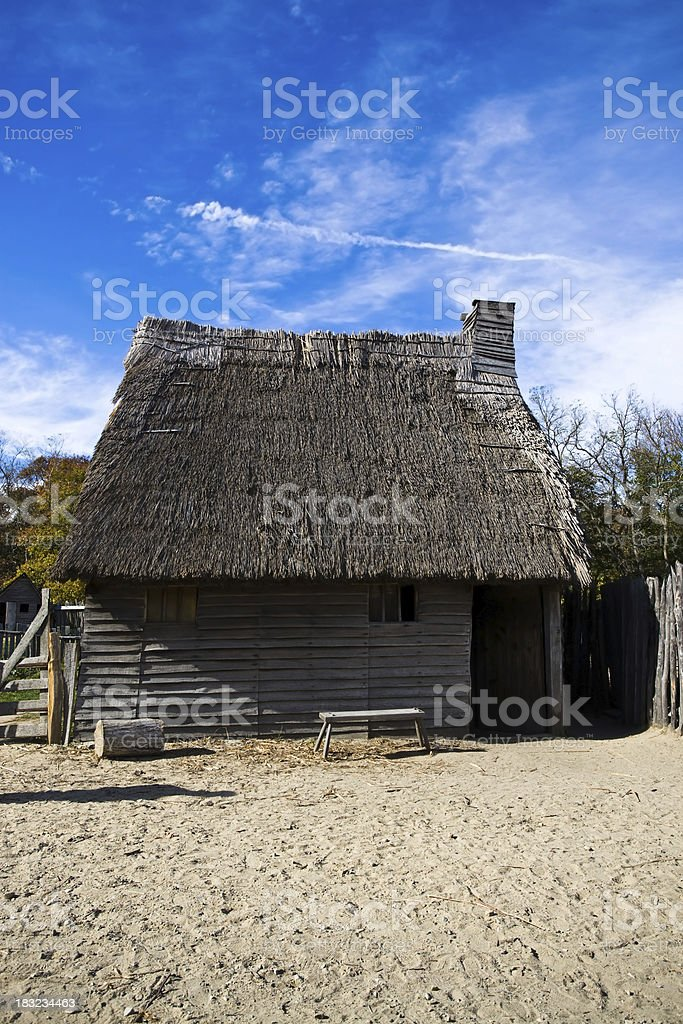 Colonial American Home stock photo