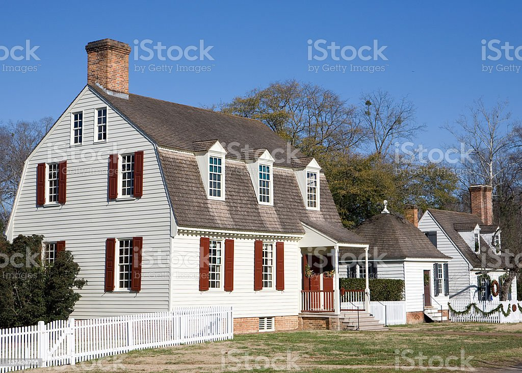 Colonial architecture royalty-free stock photo