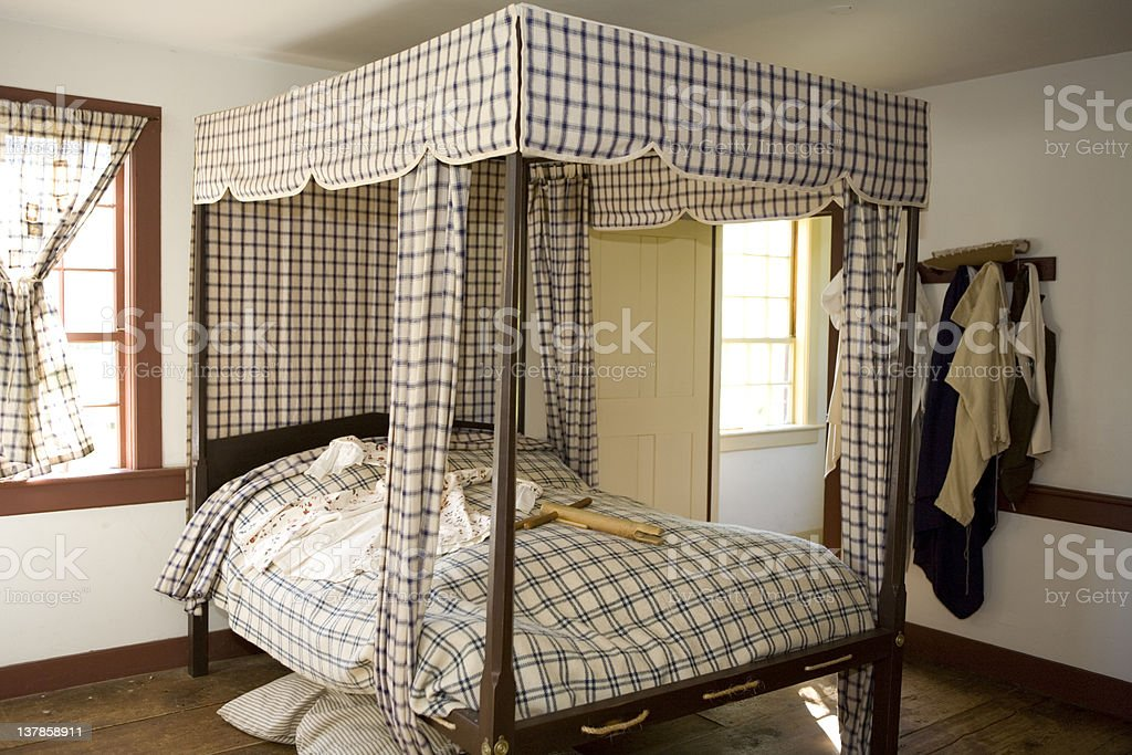 Colonial Bedroom royalty-free stock photo
