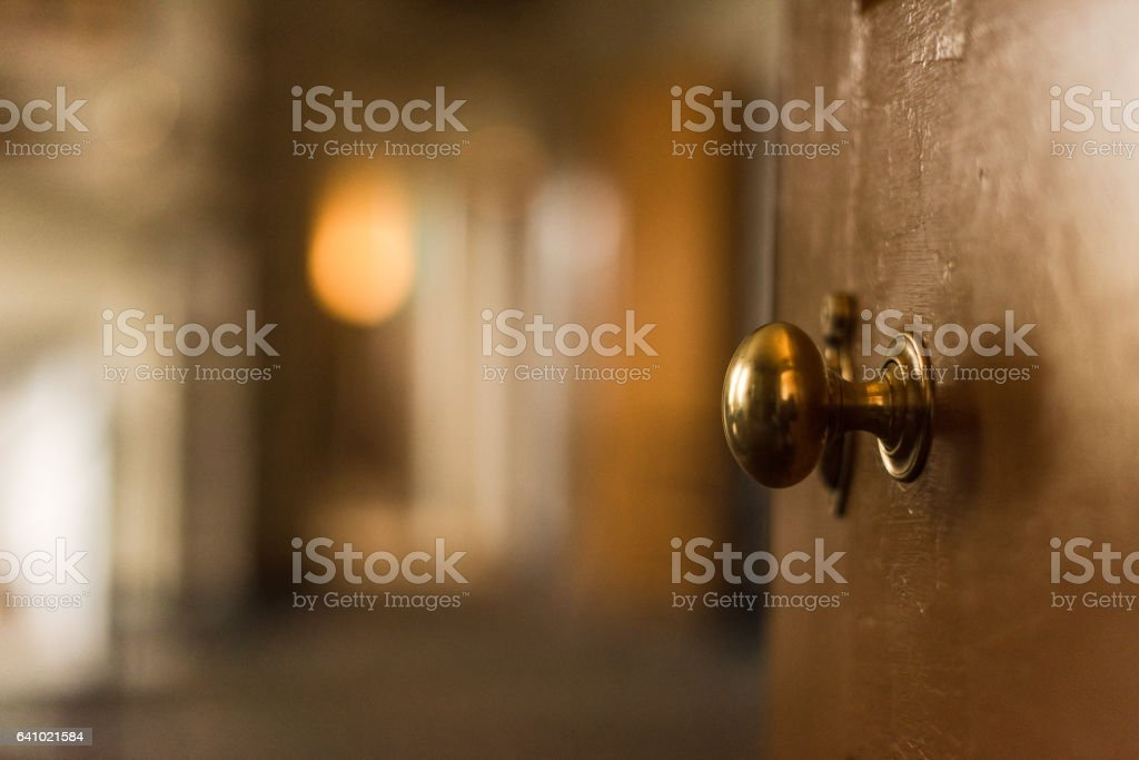 Colonial Brass Doorknob stock photo